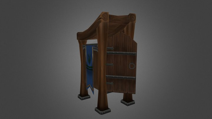 Stylized Outhouse 3D Model