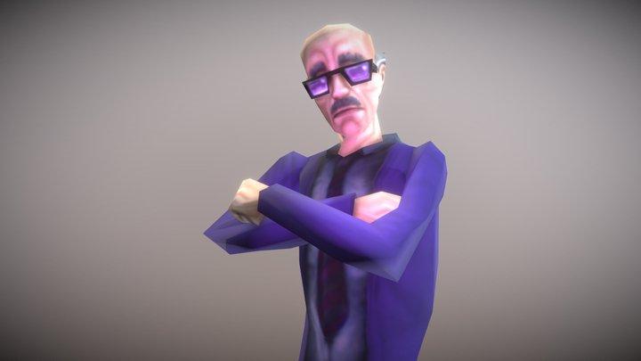 Walter Purple Suit 3D Model