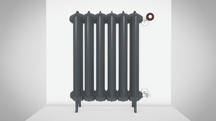 PLAIN cast-iron radiator 3D Model