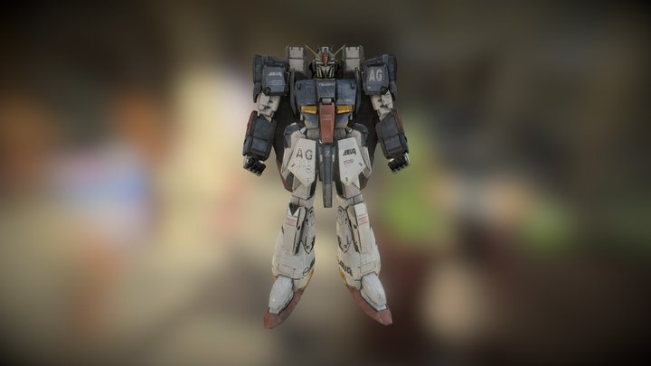 msz-006 Zeta Gundam 3D Model