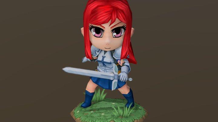 Chibi Elsa 3D Model