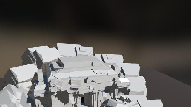 Blender 3d Temple Ruins 3D Model