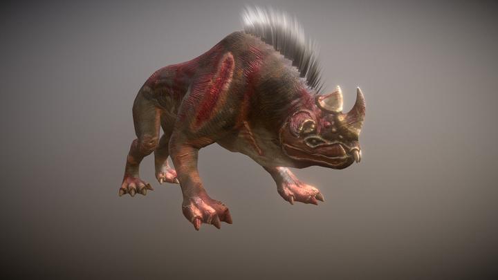 Underground Monster 3D Model
