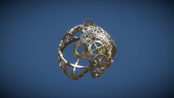 Globe Ornament 3D Model