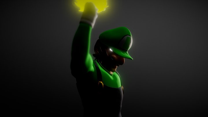 Luigi One Jump Man (One Punch Man Parody) FanArt 3D Model