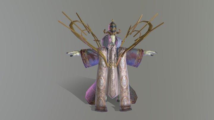 Goat Bishop 3D Model