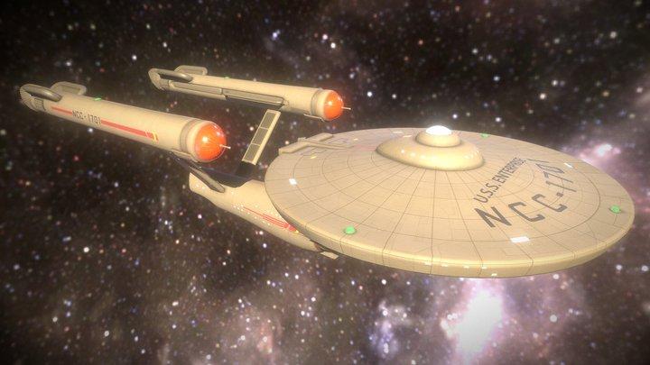 Star Trek Enterprise 001a 3D Model
