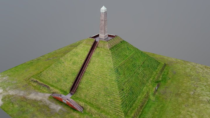 Pyramid of Austerlitz - Aerial photogrammetry 3D Model
