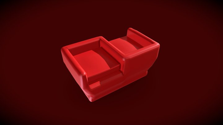 Double Sofa Chair 3D Model