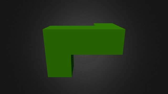 Green Piece New 3D Model