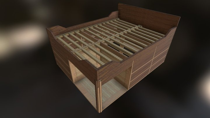 Modern Captain Bed 3D Model