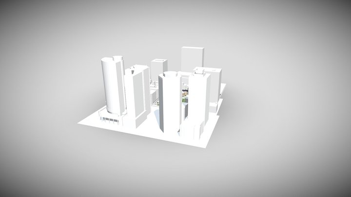 Anzac Square- Lama Rustam 3D Model