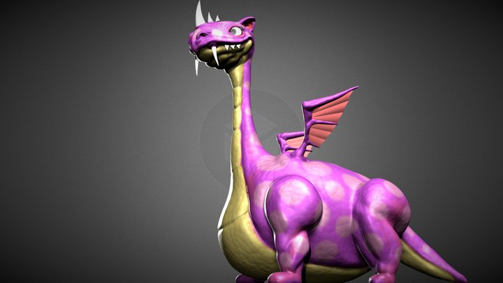 Sculptjanuary 2018 Day 26: Dragon 3D Model