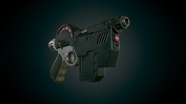 Judge Dredd Lawgiver MK2 3D Model