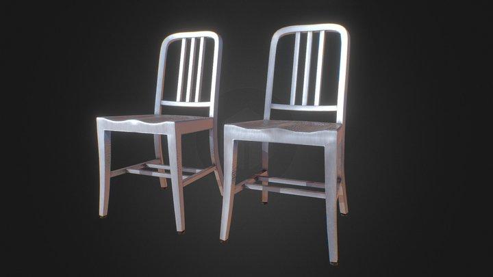 PBR Emeco Navy Chair 1006 3D Model