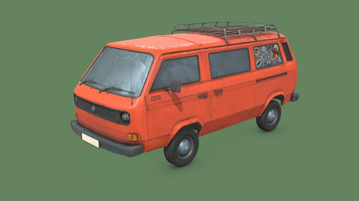 VW T3 Bus Syncro 3D Model
