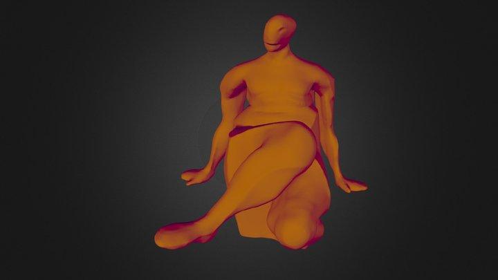 Krychlosed-sitnonsym 3D Model