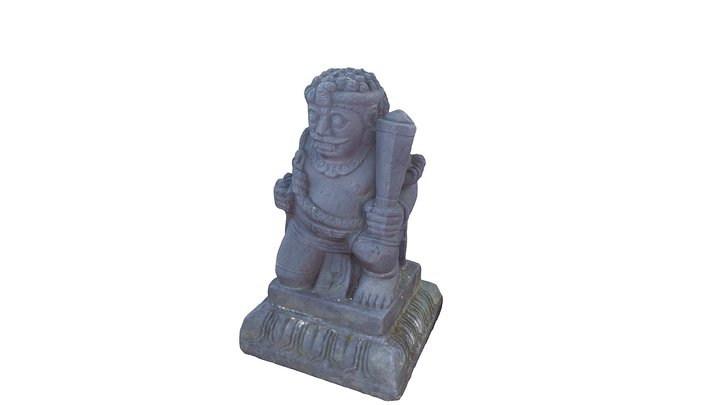 Statue in Tanjung Plaza Hotel, Tretes, East Java 3D Model