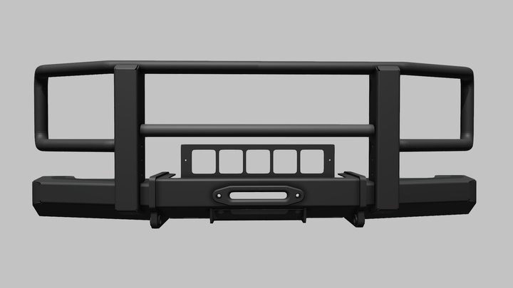 Winch bumper Mercedes-Benz G-Class 3D Model