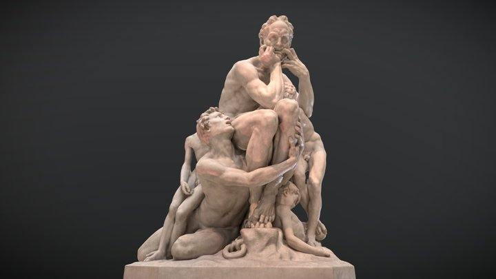 Ugolino and His Sons (Dante's Inferno) 3D Model