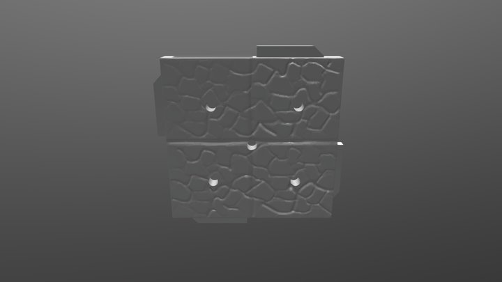 Terra-Play Adventure Tiles - Cobblestone Tile B 3D Model