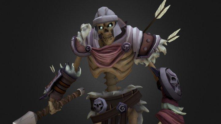 Skeleton Warrior 3D Model