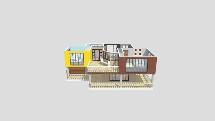 Summer Cube House 3D Model