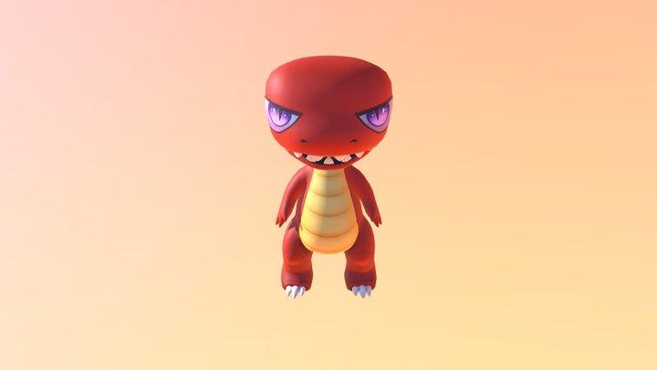Jumping T-Rex Animation 3D Model