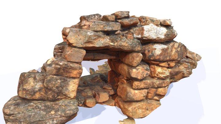 Quartz Roasting Kiln - Eureka reef Castlemaine 3D Model