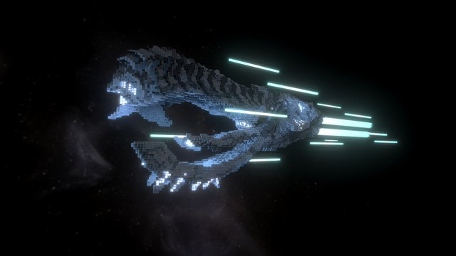 The Alien Ship - A Tribute to H.R. Giger 3D Model