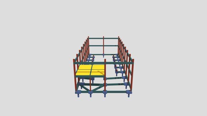 Estrutura Galpão Comercial - Orbita Engenharia 3D Model