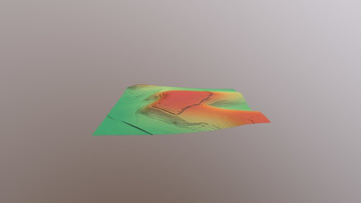 Scratchbury DTM planlauf/TERRAIN test. 3D Model