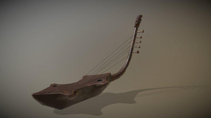 Traveler's Room: Mangbetu Harp 3D Model