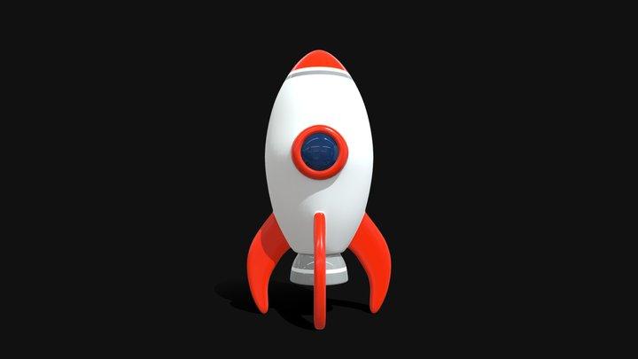 Space Rocket 1 3D Model