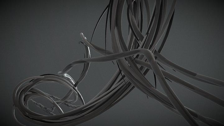 Inward heelflip 3D Model