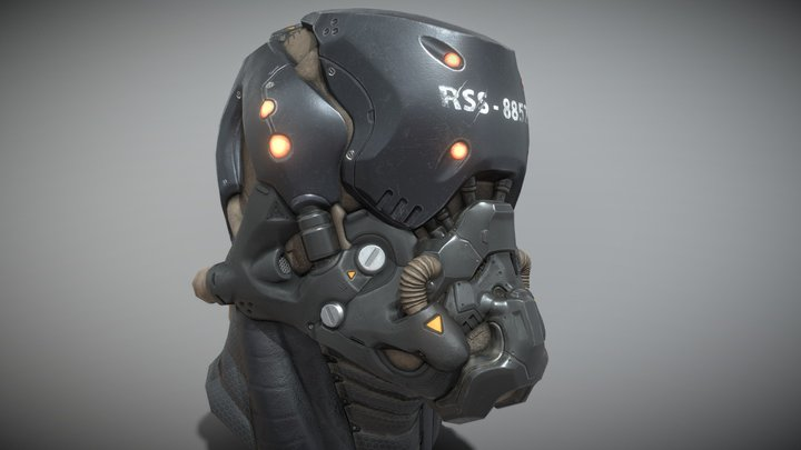 Aegis Helmet Black 3D Model