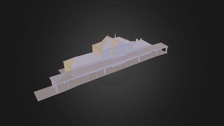 batiment voyageur de l'ancienne gare de Tourcoin 3D Model