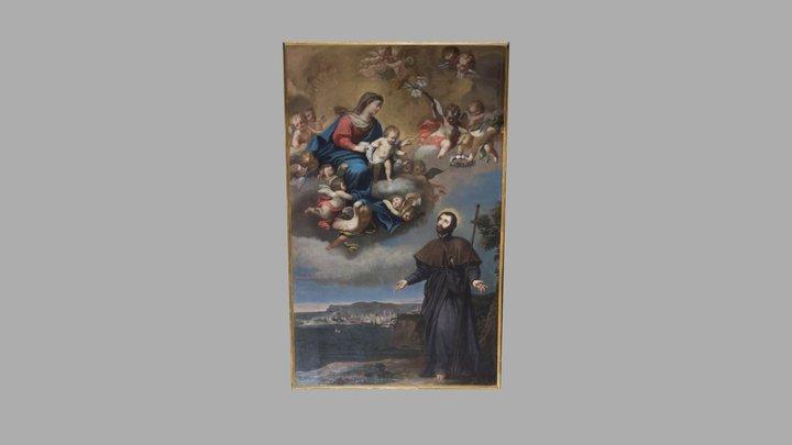 San Francesco Saverio che intercede la Madonna 3D Model