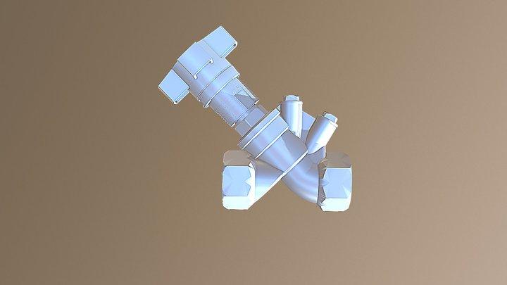 Hydrocontrol ATR DN25 female Oventrop 3D Model