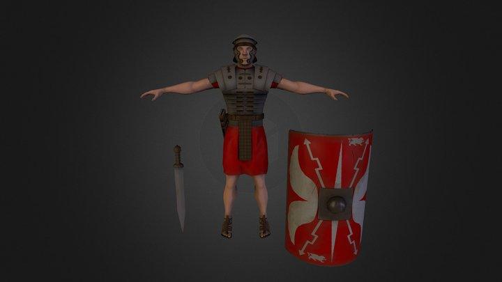 Roman Legionary 3D Model