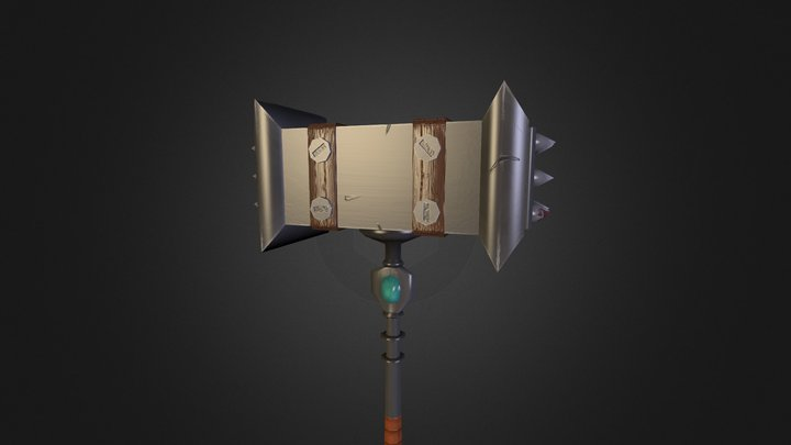 Low poly Hammer 3D Model