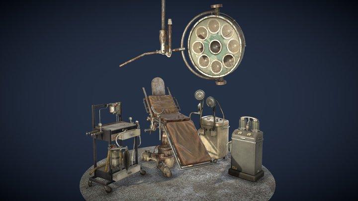 Asylum Manicomio Props 3D Model