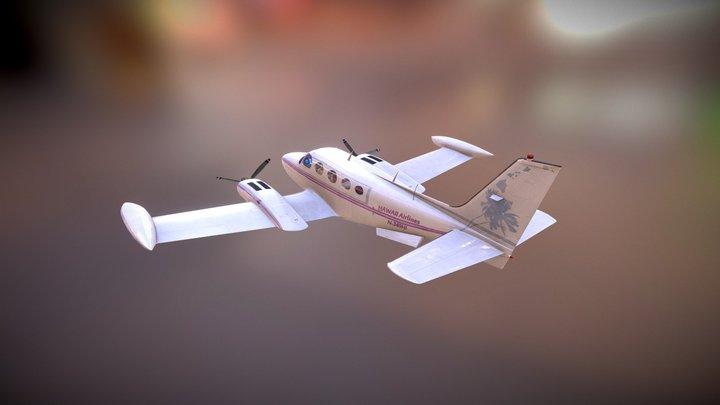 Cessna 340 Flying 3D Model