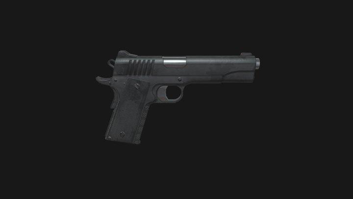 M1911 Reworked 3D Model