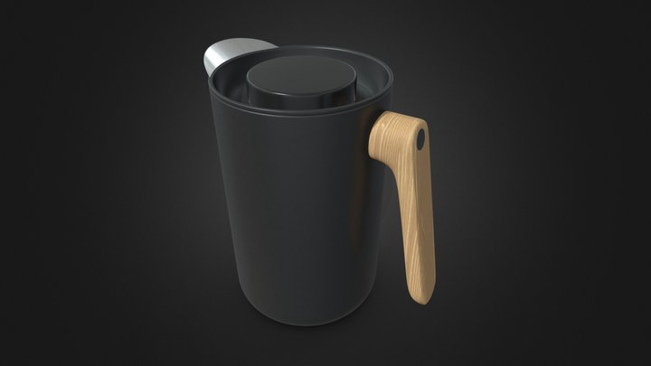 Nordic Kitchen Vacuum Jug by Eva Solo 3D Model
