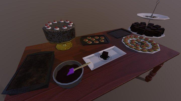 Baking Scene 3D Model