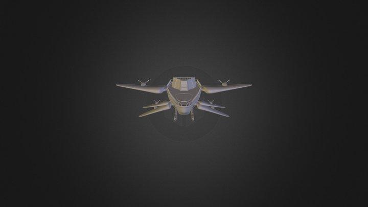 Barge Propulsive 3D Model