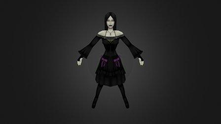 Gothic Girl 3D Model