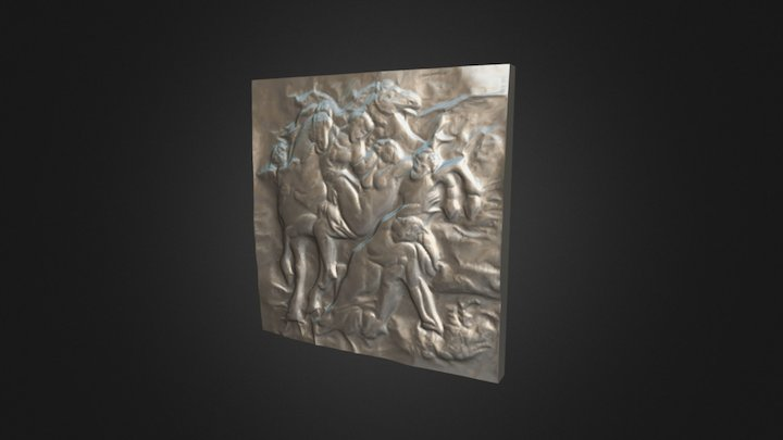 Arrogance 01 Relief Sculpture Scan 3D Model