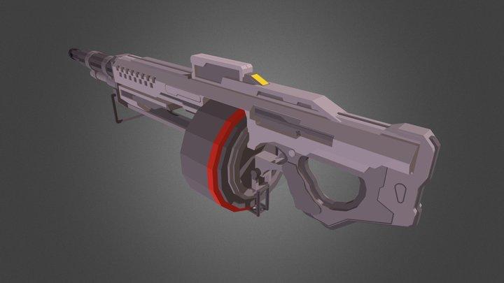 M739 SAW (Halo 5) 3D Model